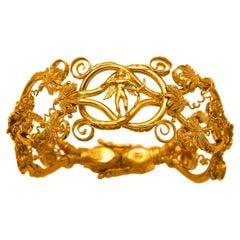 Dimos 22k Gold Ancient Greek Eros Bracelet