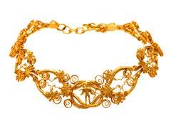 Dimos 22k Gold Museum Copy Eros Necklace