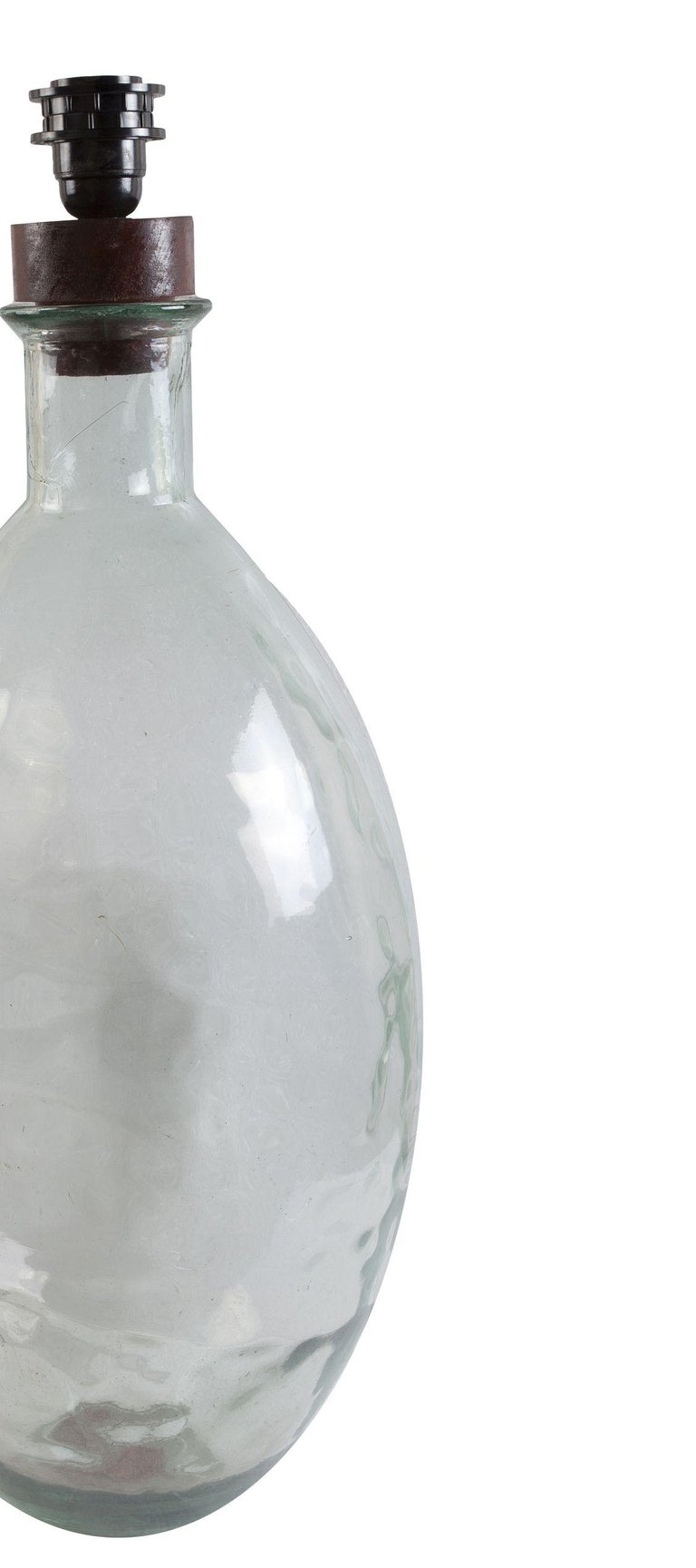 20th Century Dimpled Demijohn Distillery Bottle, 1970s, Possible Table Lamp For Sale