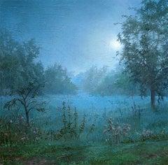 Dina Brodsky, Loire Morning I, oil on plexiglass realist landscape painting