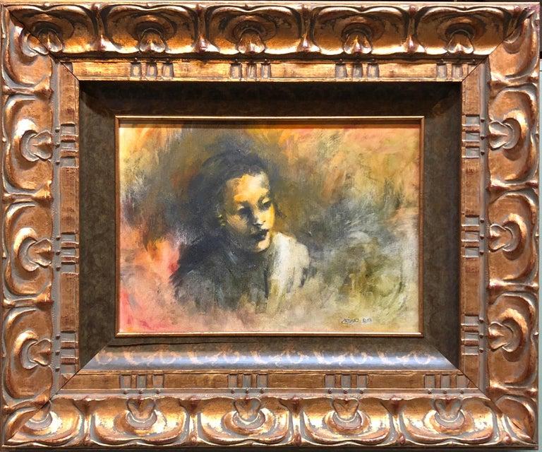 Dina Rosenzweig Portrait Painting - Young Hasidic Boy, Oil Painting Israeli Judaica Jerusalem, Geulah Neighborhood