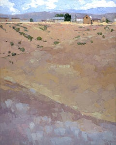 A Late Summer Day (desert landscape, mountains, pastel colors)