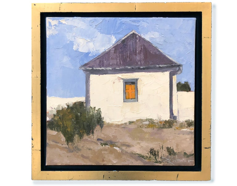 Hilltop Adobe (Landscape, Still Life, Perspective, Coors)) - Painting by Dinah Worman