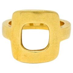 Dinh Van Cartier Modernist 18 Karat Yellow Gold Cushion Ring