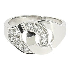Dinh Van Menottes Ring White Gold and Diamonds