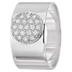 Dinh Van Modern White Gold Band Ring with Diamonds from Anthea Collection
