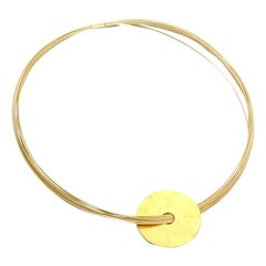 Dinh Van Pendant Yellow Gold Choker Necklace