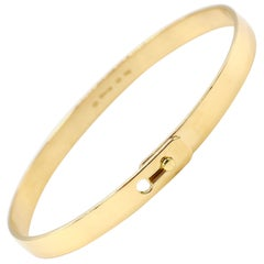 Dinh Van Serrure French 18 Karat Gold Bangle Bracelet