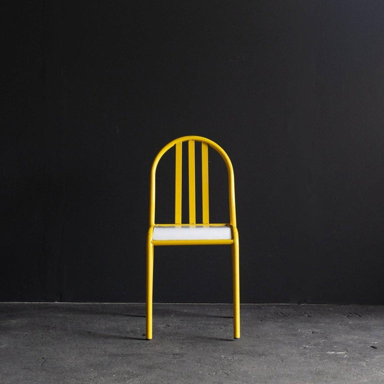 Circa 1960s / france Size W400 D600 H850 SH450 mm  Dining chair designed by Robert Mallet-Stevens. Unlike the Model 222 chair, which is one of his most iconic piece. It is the same design as the chair made for the restaurant of the Salon des Arts