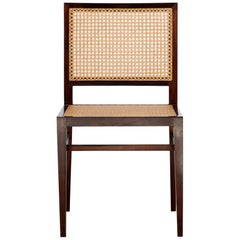 Dining Chair in Rosewood and Cane by Branco & Preto, 1950s