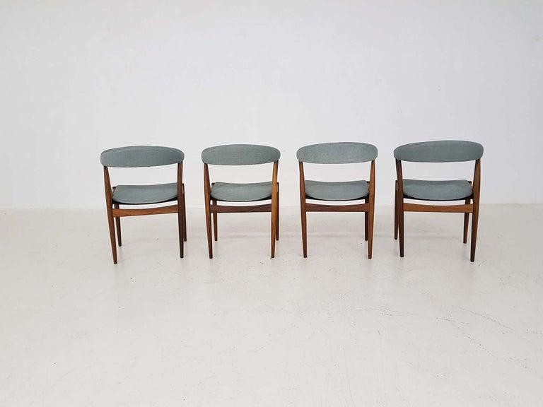 Scandinavian Modern Dining Chairs BA113 by Johannes Andersen for Andersens Møbelfabrik, Denmark 1969 For Sale