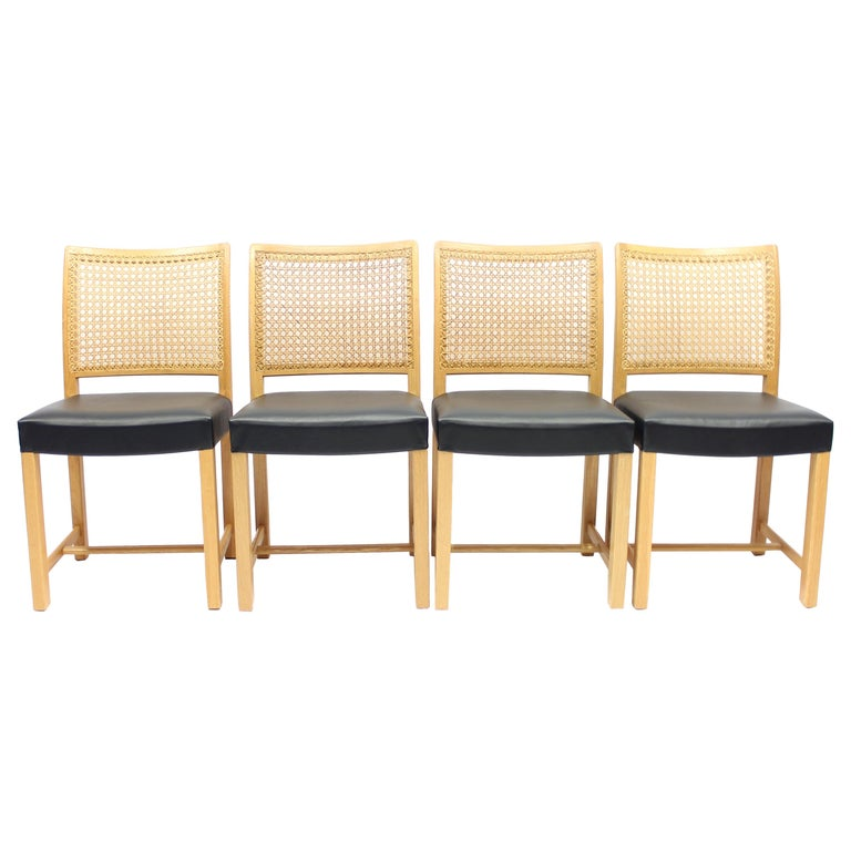Dining Chairs by Carl Gustaf Hiort Af Ornäs for Mikko Nupponen, 1950s, Set of 4 For Sale