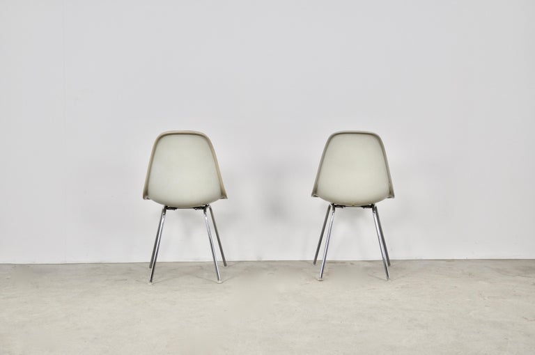 Metal Dining Chairs by Charles and Ray Eames for Herman Miller, 1960S For Sale