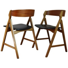 Dining Chairs by Henning Kjærnulf, Set of Two