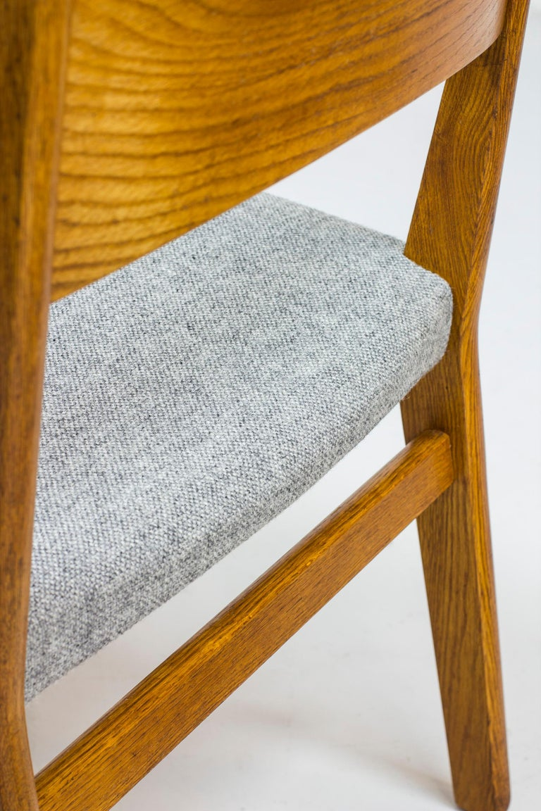 Dining chairs by John Vedel Rieper for Erhard Rasmussen, Denmark, circa 1957 For Sale 4