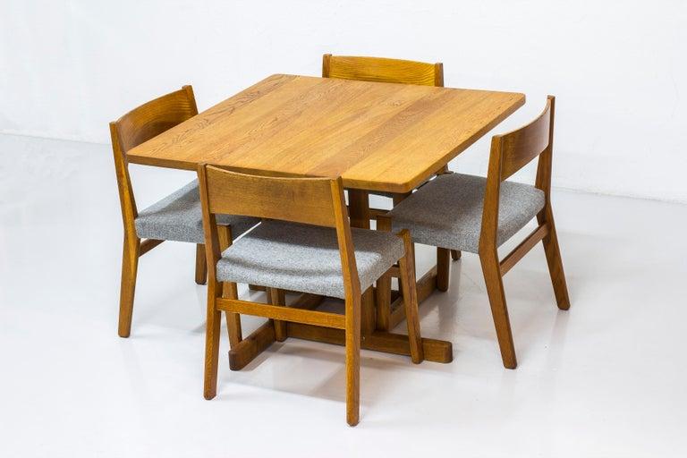 Scandinavian Modern Dining chairs by John Vedel Rieper for Erhard Rasmussen, Denmark, circa 1957 For Sale
