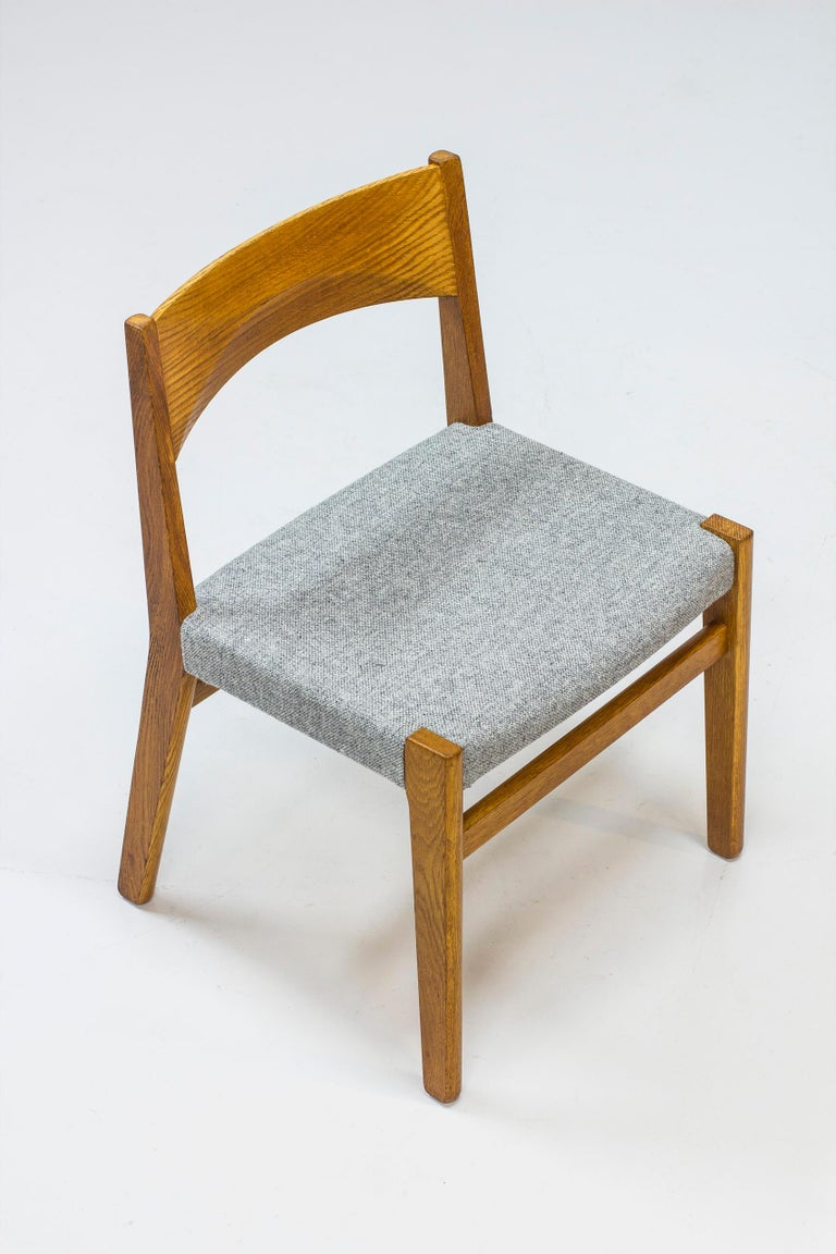 Wool Dining chairs by John Vedel Rieper for Erhard Rasmussen, Denmark, circa 1957 For Sale