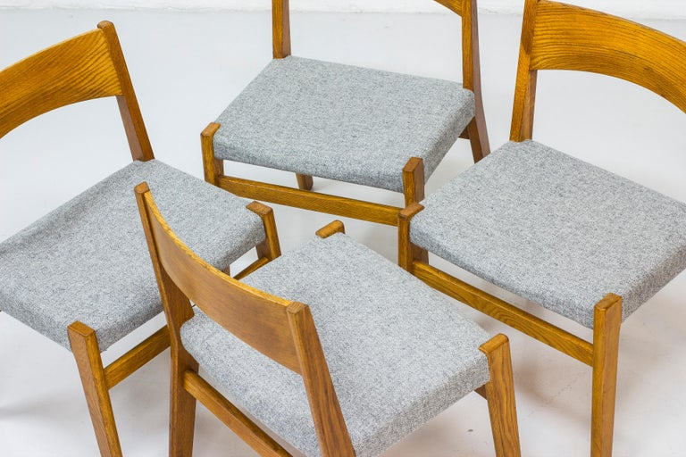 Dining chairs by John Vedel Rieper for Erhard Rasmussen, Denmark, circa 1957 For Sale 1