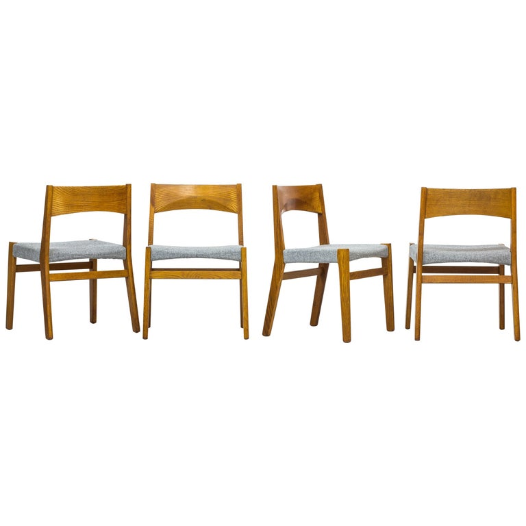 Dining chairs by John Vedel Rieper for Erhard Rasmussen, Denmark, circa 1957 For Sale