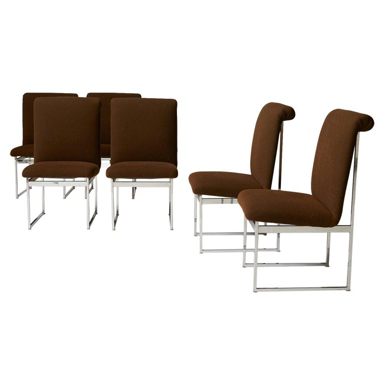 Dining Chairs by Milo Baughman For Sale