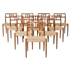Dining Chairs by Niels O. Møller for J.L. Møllers Møbelfabrik, Denmark, 1966
