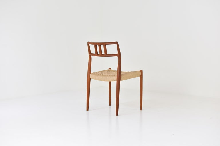Dining Chairs by Niels O. Møller for J.L. Møllers Møbelfabrik, Denmark, 1966 In Good Condition In Antwerp, BE