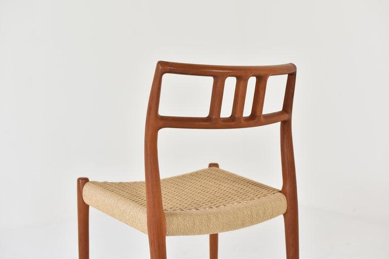 Papercord Dining Chairs by Niels O. Møller for J.L. Møllers Møbelfabrik, Denmark, 1966