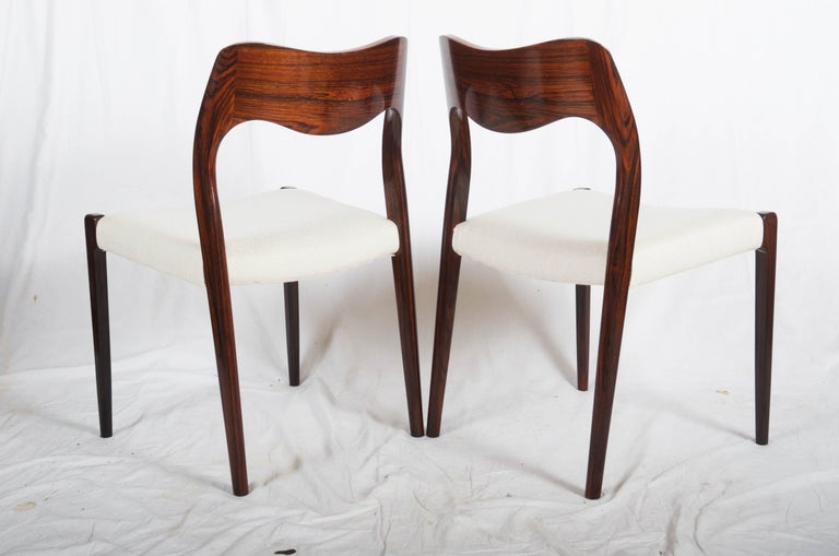 Scandinavian Modern Dining Chairs by Niels Otto Møller Model 71 For Sale