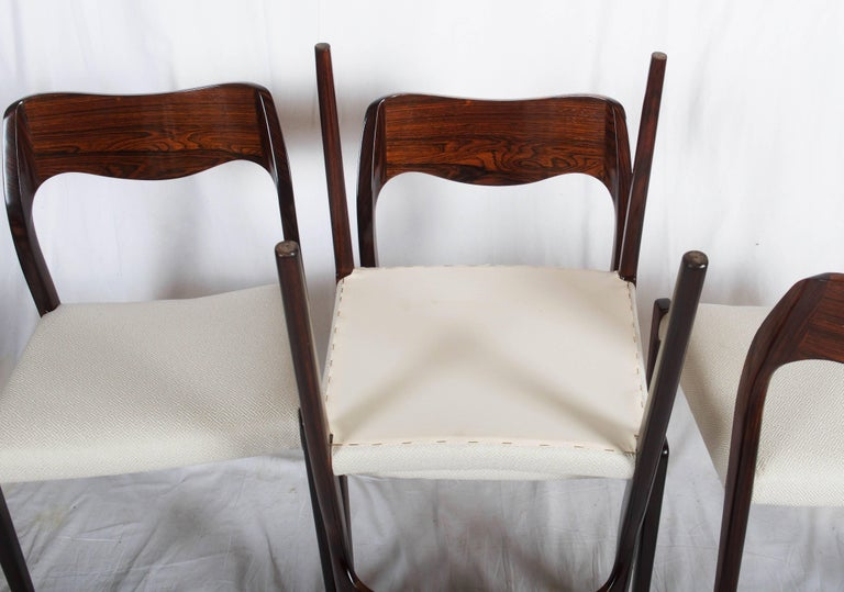 Danish Dining Chairs by Niels Otto Møller Model 71 For Sale