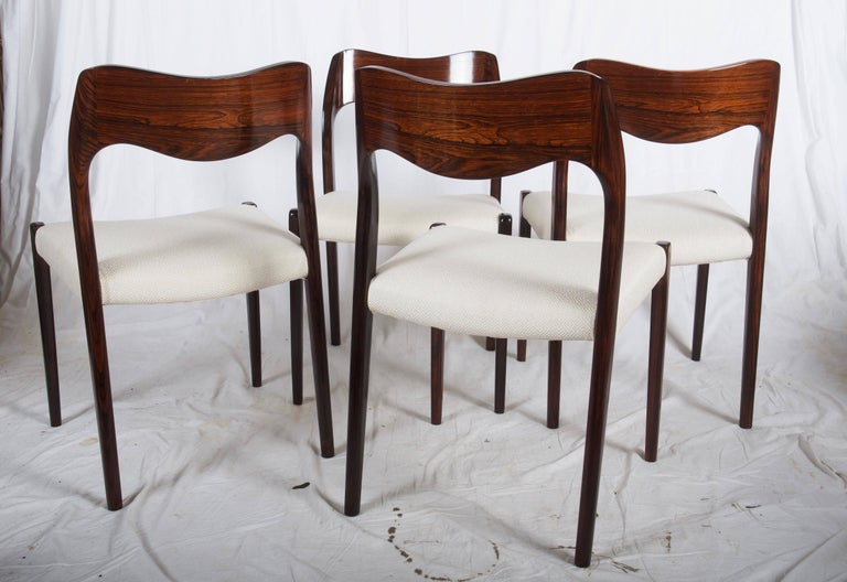 Dining Chairs by Niels Otto Møller Model 71 In Excellent Condition For Sale In Vienna, AT