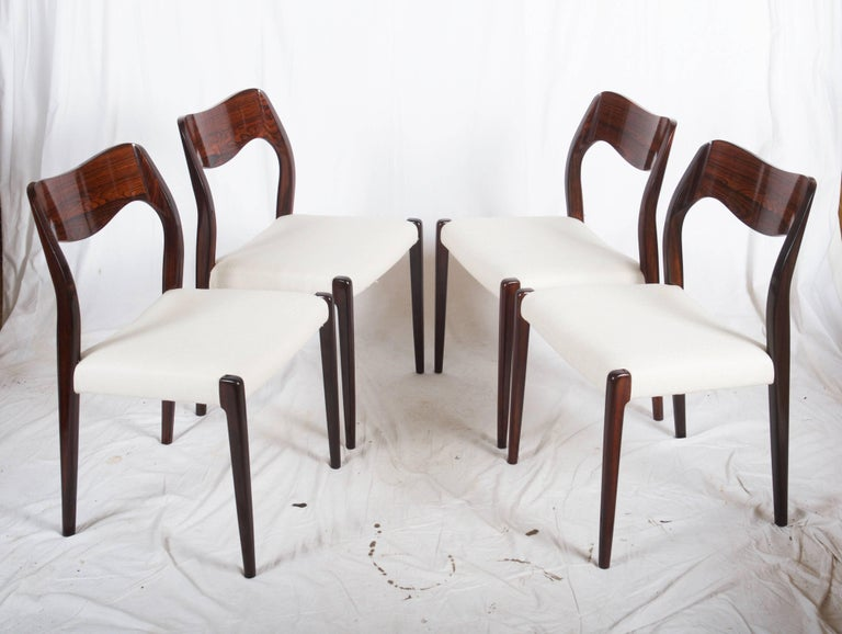 Dining Chairs by Niels Otto Møller Model 71 For Sale 1