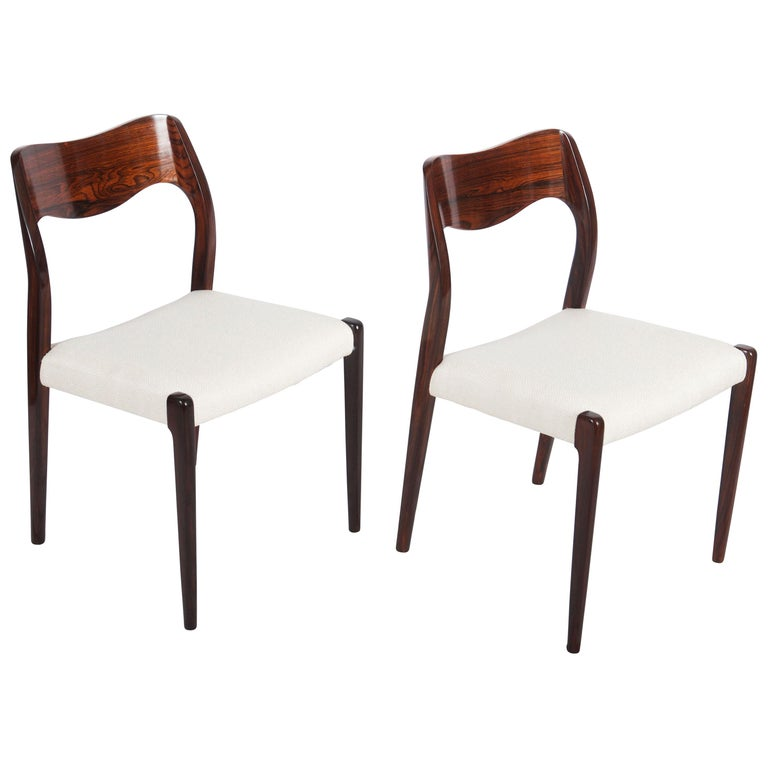 Dining Chairs by Niels Otto Møller Model 71 For Sale