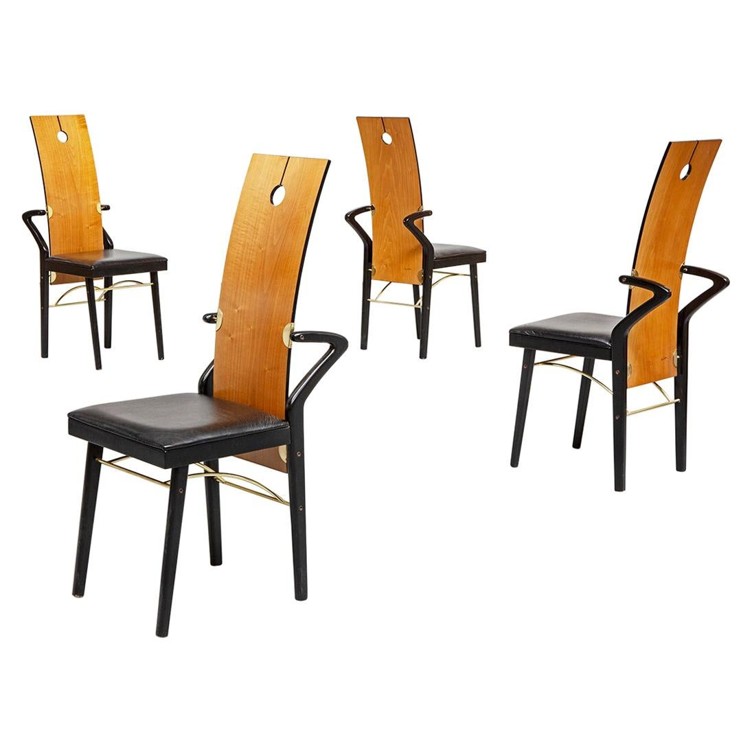 Dining Chairs by Pierre Cardin, 1980s