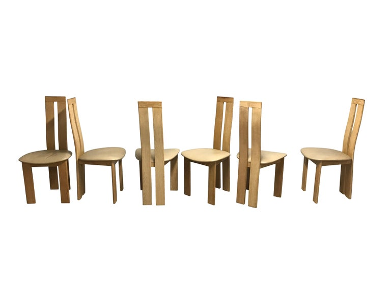 Post-Modern Dining Chairs by Pietro Costantini for Ello, 1970s, Set of 6 For Sale