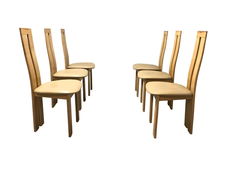 Italian Dining Chairs by Pietro Costantini for Ello, 1970s, Set of 6 For Sale