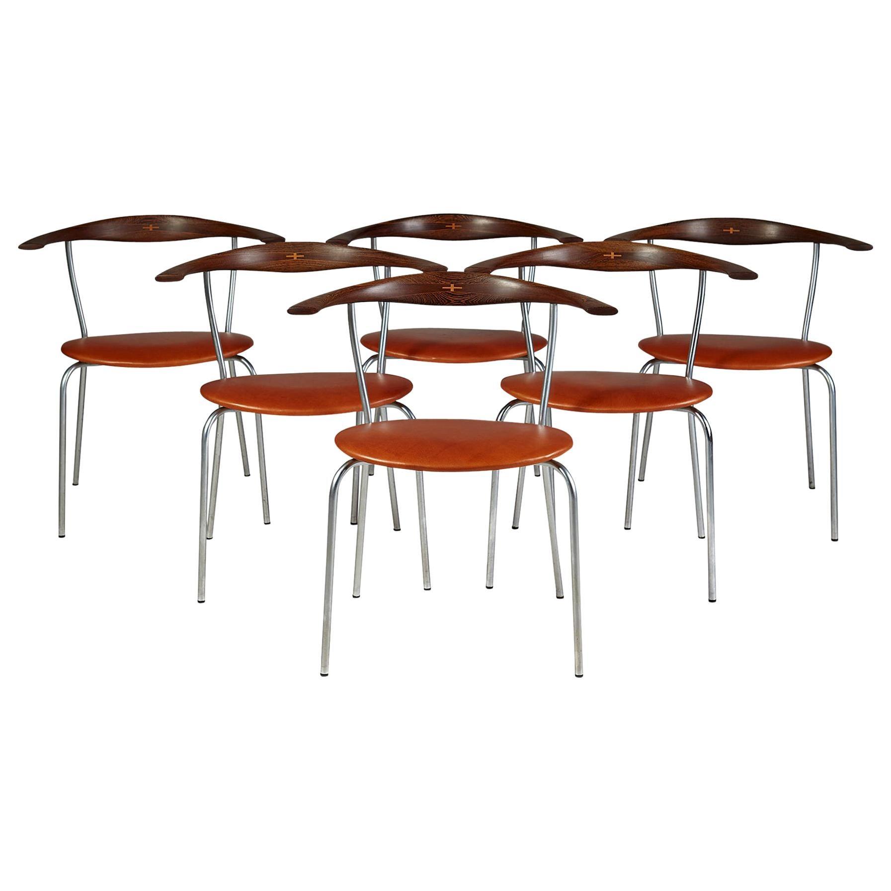 Dining Chairs Designed by Hans Wegner for Johannes Hansen, Denmark, 1960s