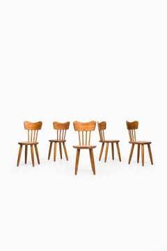 Dining Chairs Designed by Torsten Claeson Produced by Steneby Hemslöjd in Sw