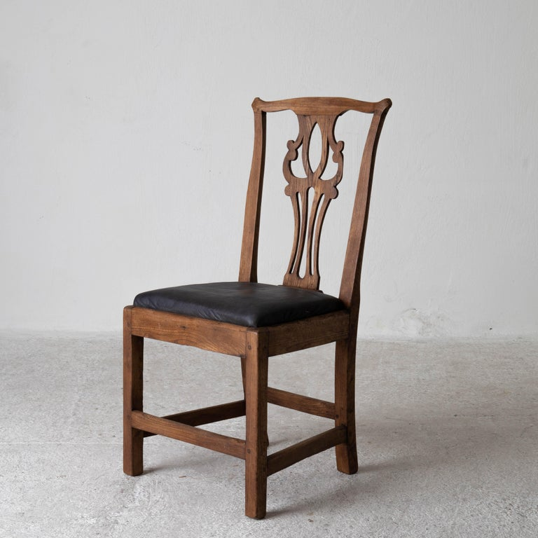 18th Century and Earlier Dining Chairs English Set of 6 Assembled Chippendale England For Sale