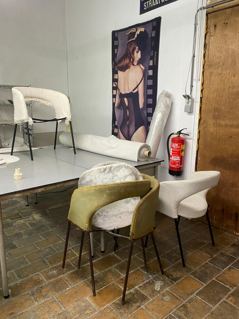 Gastone Rinaldi Dining Chairs from Hotel 'Abano Terme', 1960  with certificate For Sale 10