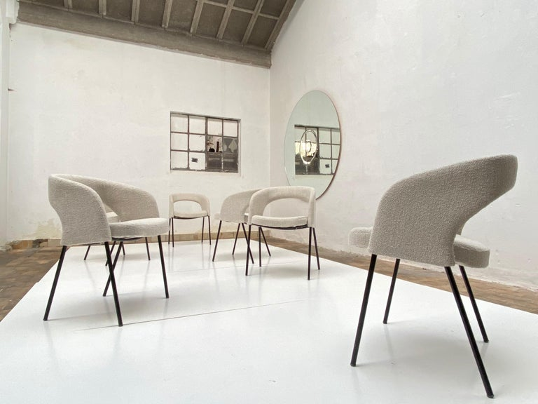 Mid-Century Modern Gastone Rinaldi Dining Chairs from Hotel 'Abano Terme', 1960  with certificate For Sale