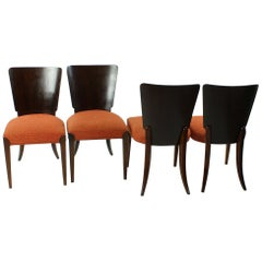 Dining Chairs H-214 by Jindrich Halabala, Set of Four, Czechoslovakia, 1930s