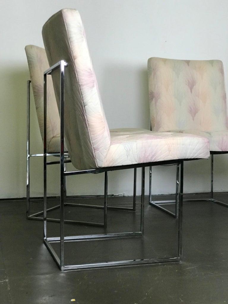 Mid-Century Modern Six Mid Century Modern Milo Baughman Dining Chairs for Thayer Coggin in Chrome