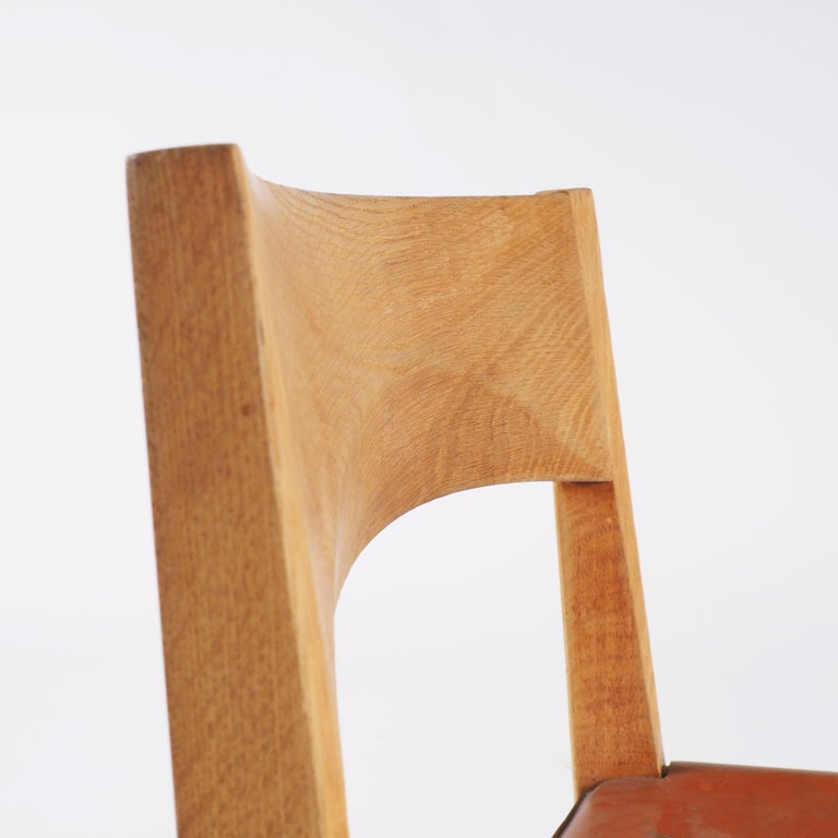 Dining Chairs in Oak and Leather by John Vedel-Rieper, Denmark for Källemo For Sale 2