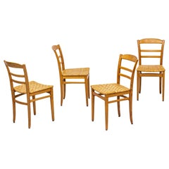 Dining Chairs in Oak and Rattan/Cane by Carl Malmsten, Sweden, 1950s