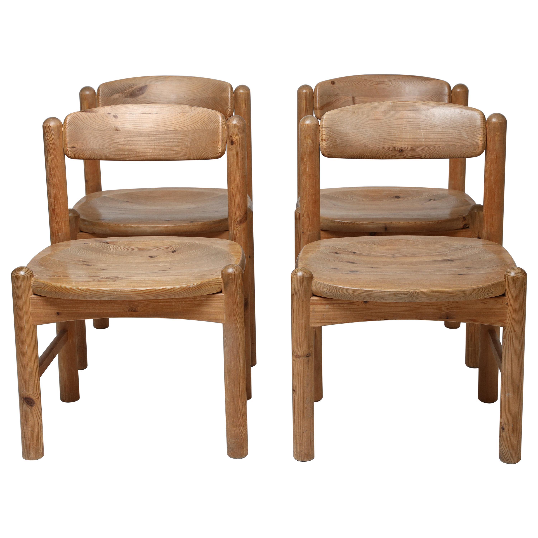 Dining Chairs in Solid Pine, by Rainer Daumiller, Hirtshals Savvaerk, Set of 4