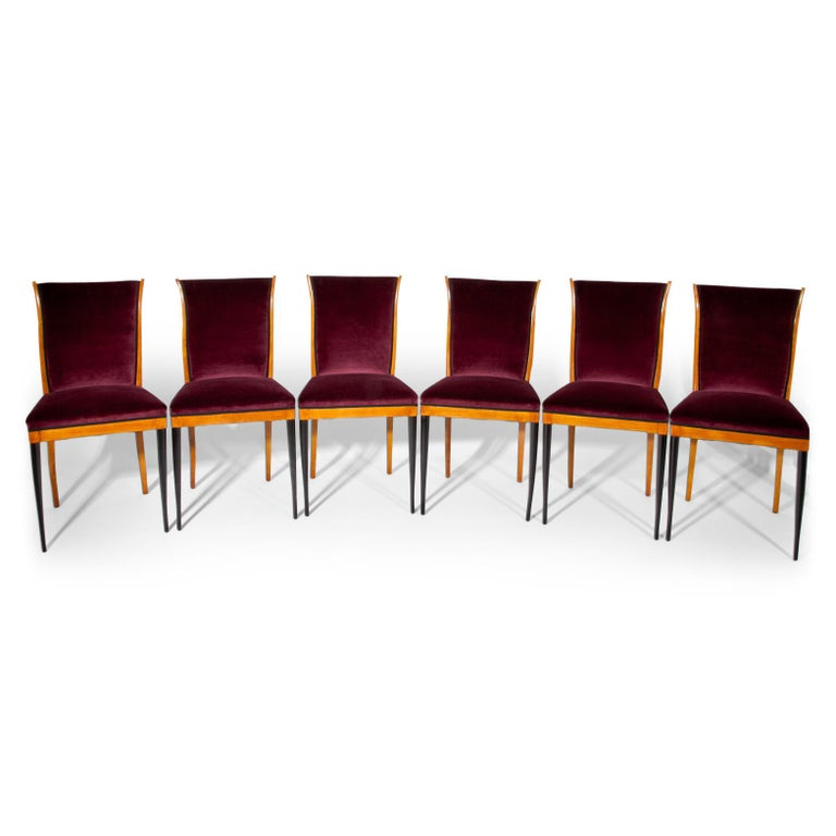 Mid-Century Modern Dining Chairs, Italy, Mid-20th Century For Sale