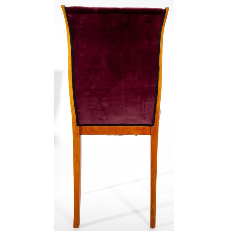 Wood Dining Chairs, Italy, Mid-20th Century For Sale