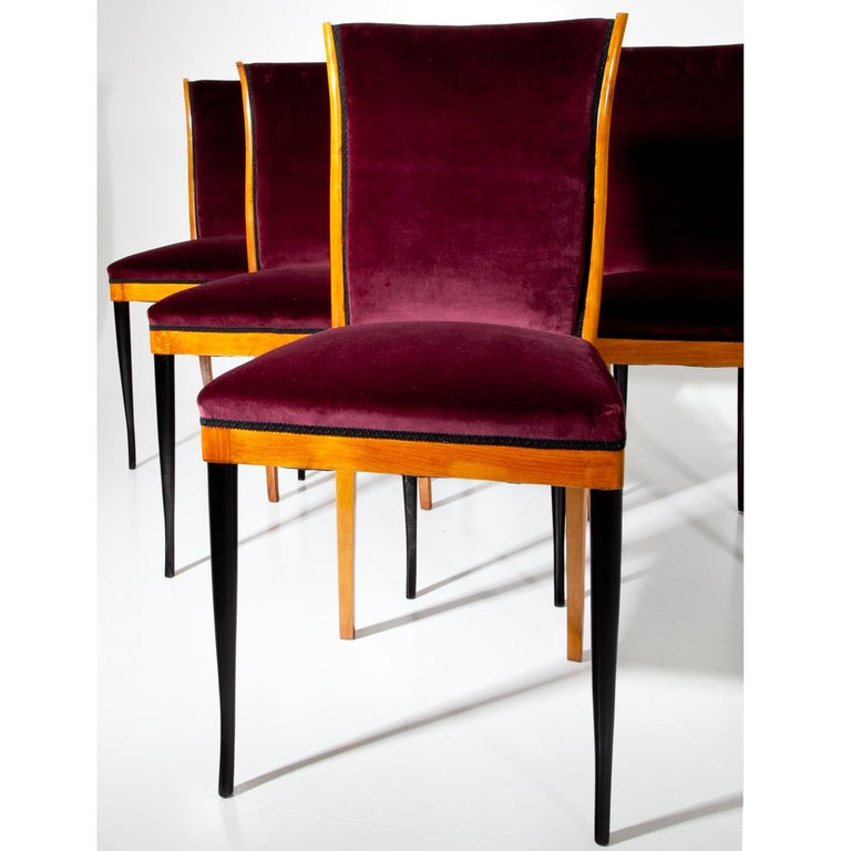 Dining Chairs, Italy, Mid-20th Century For Sale 2