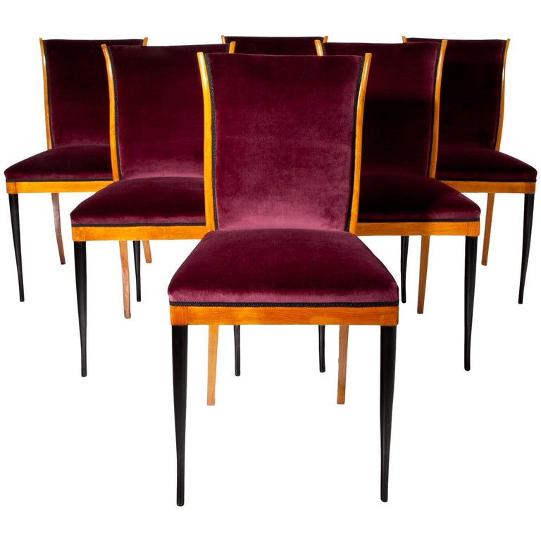 Dining Chairs, Italy, Mid-20th Century For Sale