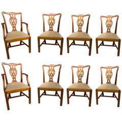 Dining Chairs, Mahogany, Georgian Style, Made in England, Set of Eight